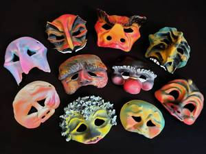 COMMEDIA ' JUST MASKS' SET -  WITHOUT TEACHING RESOURCES