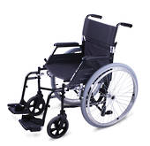 "Xlite Manual Wheelchair 46 cm with quick release 24"" rear wheels and quick release backrest"
