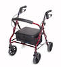 "Mobilis Quad Low Seat Walking Frame - Red with 8"" Wheels"