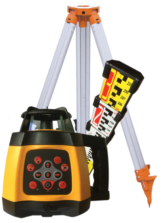 RL250SG Green Beam Rotating Laser Level c/w Staff and Tripod | 519937