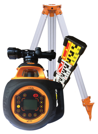 RL5 Dual Grade Rotary Laser Kit c/w Staff & Tripod | 519946