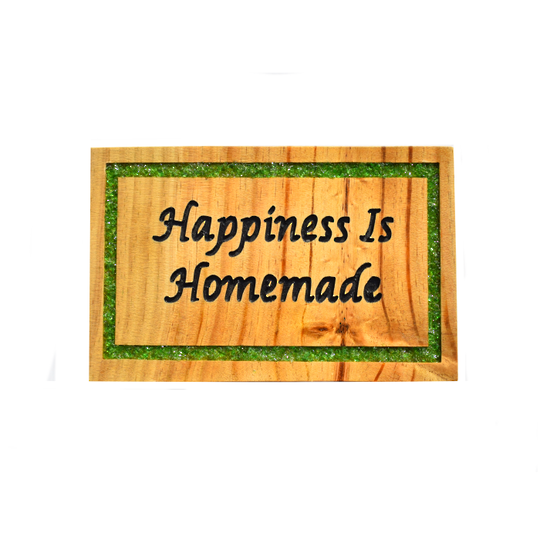 Pine 'Happiness is Homemade' sign