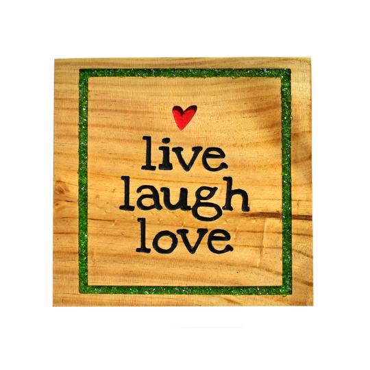 Pine 'Live Love Laugh' sign