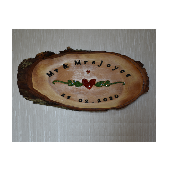 Lawsoniana Mr and Mrs Jones Sign Wedding Gift