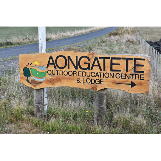 Macrocarpa Aongatete Outdoor Education Centre Custom Sign