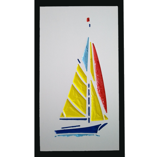 Yacht with Yellow Sails