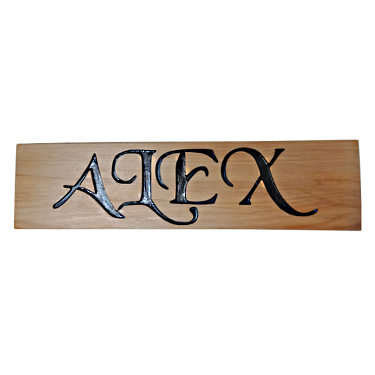 Macrocarpa 'Alex' Sign