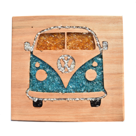 Macrocarpa Volkswagen Wood Art