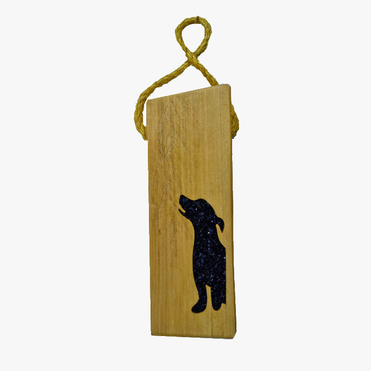 Macrocarpa Black Dog Door Stop