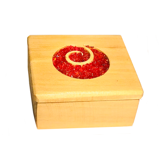Macrocarpa Koru Jewellery Box