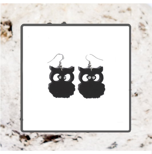 Macrocarpa Morepork (Ruru) Earrings