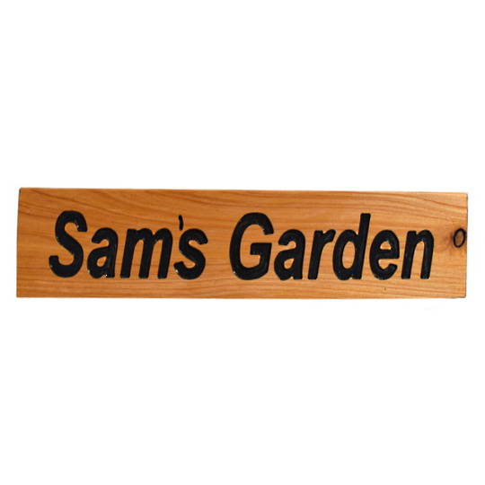 Macrocarpa 'Sam's Garden' Custom Sign