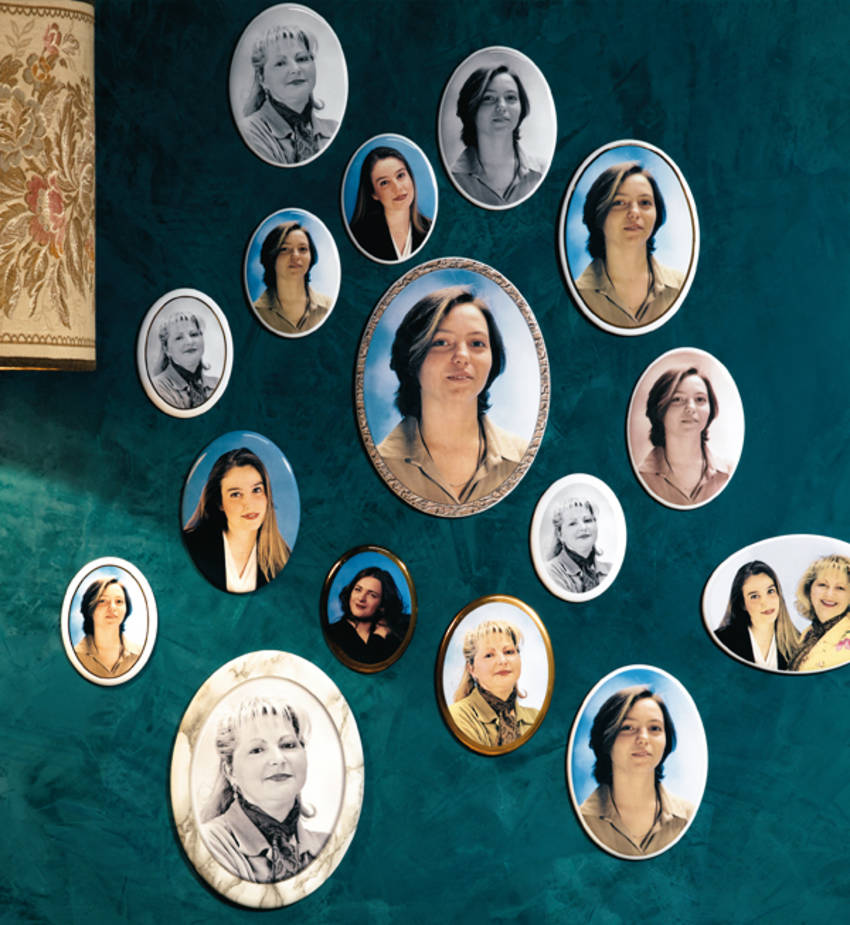 Oval Ceramic Portraits