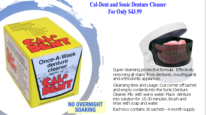 CAL-DENT AND DENTURE SONIC CLEANER
