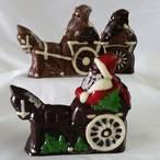 Santa on a cart