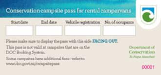 DOC Campsite Pass - Family