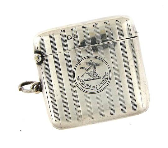 Sterling silver Antique vesta box