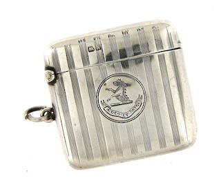 Sterling silver vintage vesta box