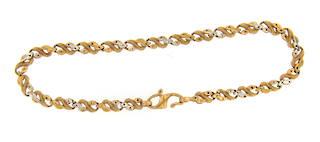 22ct yellow gold fancy bracelet