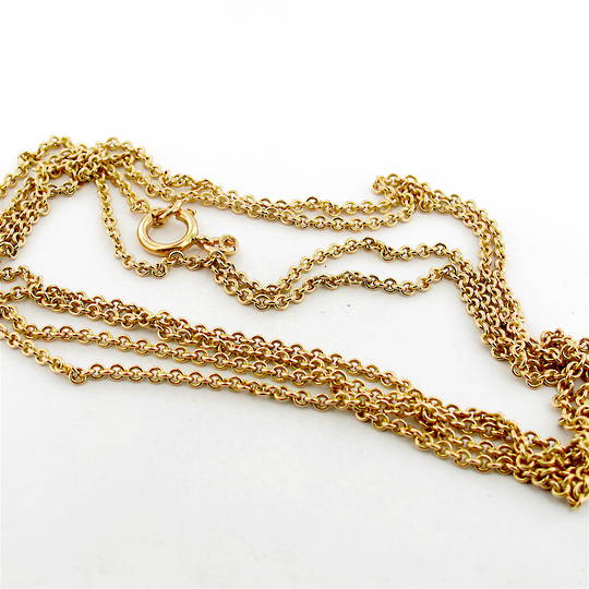 9ct yellow gold antique belcher link muff chain