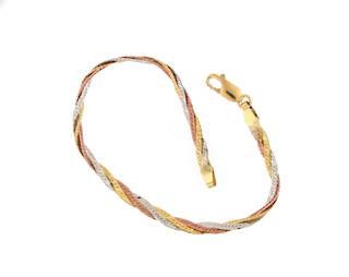 18ct tri-tonal fancy bracelet