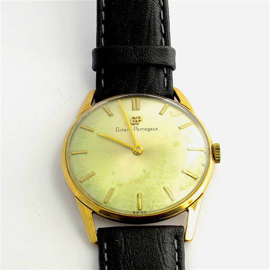 Men's 9ct yellow gold Girard Perregaux watch