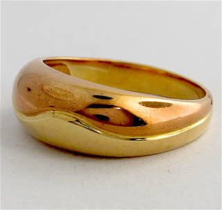 9ct bi-tone dress ring