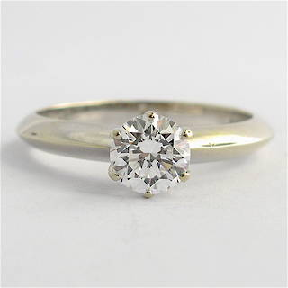 18ct white gold 0.70ct diamond solitaire ring