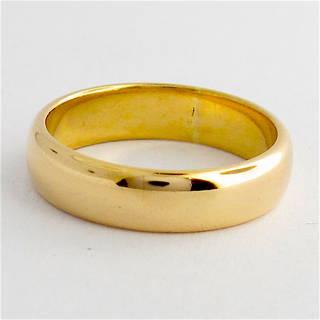 18ct rosey gold wedding band