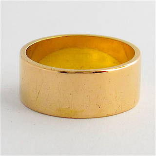 22ct yellow gold wide band