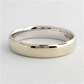 10ct white gold wedding band