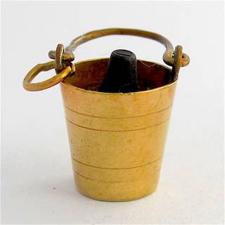 9ct yellow gold bucket charm