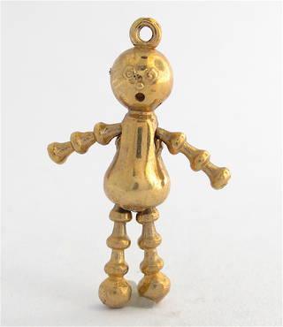 9ct yellow gold lulu doll charm