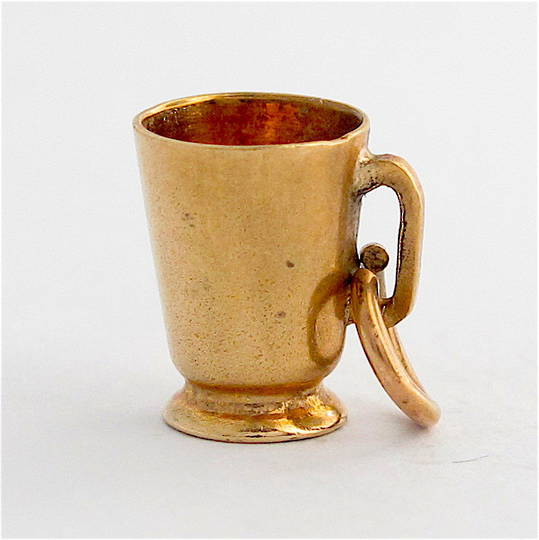9ct yellow gold Mug charm