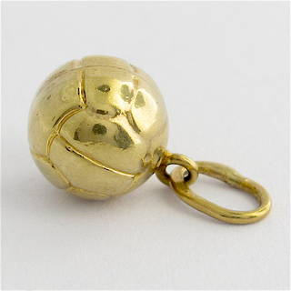 9ct yellow gold soccer ball charm