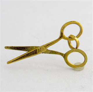 9ct yellow gold scissors charm