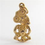 9ct yellow gold Tiki charm