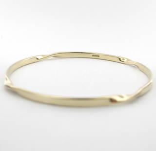 9ct yellow gold twist style bangle