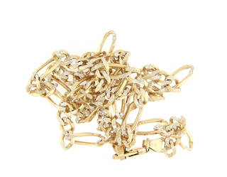9ct yellow gold fancy figaro link chain