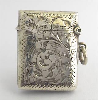 Sterling silver vesta box