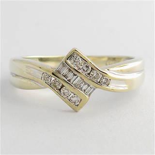 9ct white gold multi-diamond dress ring