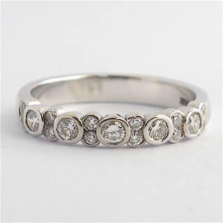 18ct white gold diamond wedding band