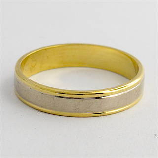 18ct yellow & white gold band
