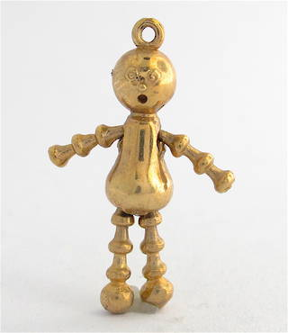 9ct yellow gold lulu doll charm