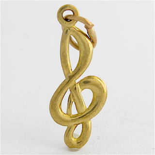 9ct yellow gold musical note charm