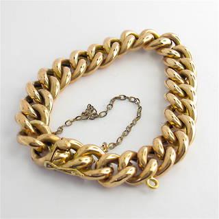 8ct rose gold vintage curb link bracelet