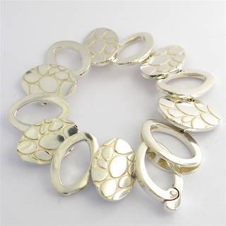 Italian sterling silver fancy bracelet