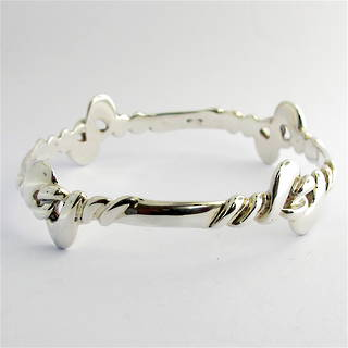 Sterling silver fancy bangle