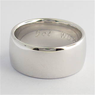 9ct solid white gold band