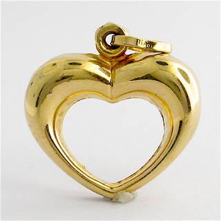 9ct yellow gold heart charm